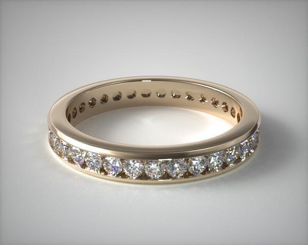 18K Yellow Gold Ladies 0.75CTW.* Channel Set Diamond Eternity Ring
