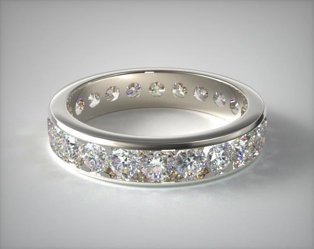 Platinum Ladies 2.00ctw* Channel Set Diamond Eternity Ring