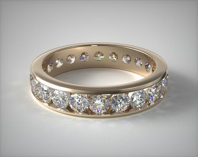 18K Yellow Gold Ladies 1.50ctw* Channel Set Diamond Eternity Ring