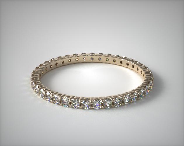18K Yellow Gold Ladies 0.50CTW.* Contoured Common Prong Diamond Eternity Ring