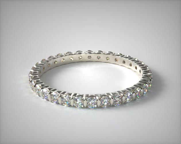 18K White Gold Ladies 0.50ctw* Bar Set Diamond Eternity Ring
