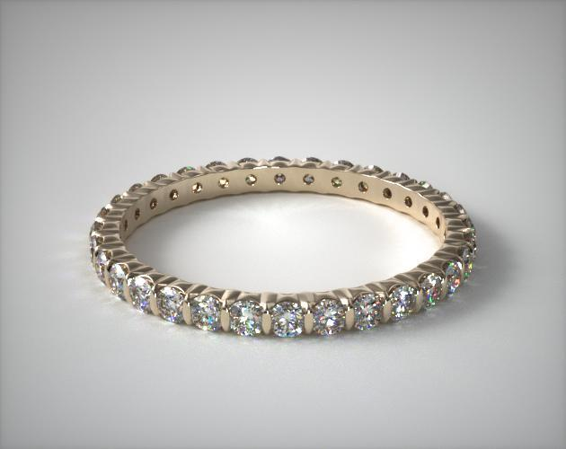 18K Yellow Gold Ladies 0.50ctw* Bar Set Diamond Eternity Ring