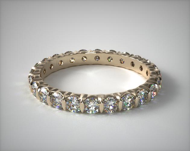 18K Yellow Gold Ladies 1.00CTW.* Bar Set Diamond Eternity Ring