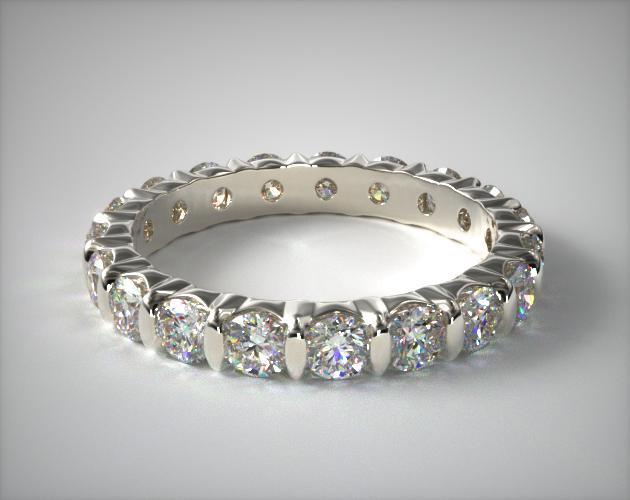 Platinum Ladies 1.50CTW.* Bar Set Diamond Eternity Ring