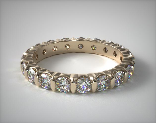 18K Yellow Gold Ladies 1.50CTW.* Bar Set Diamond Eternity Ring