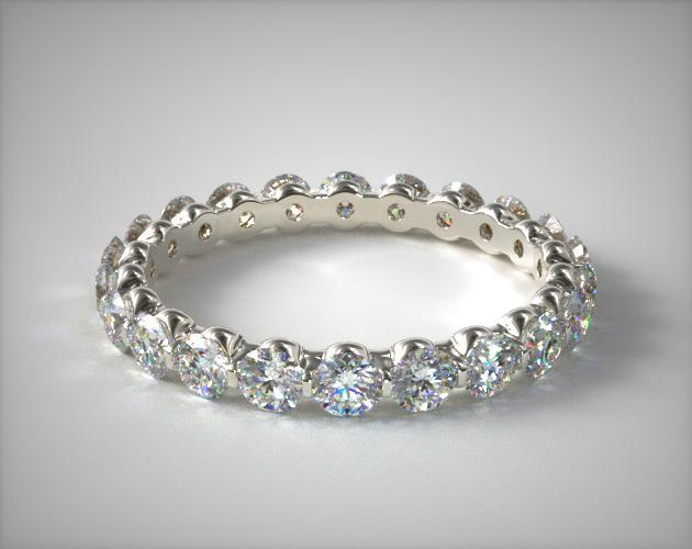 18K White Gold Ladies 1.00CTW.* Shared Prong Diamond Eternity Ring