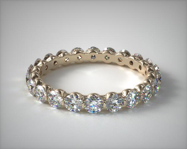 18K Yellow Gold Ladies 1.00CTW.* Shared Prong Diamond Eternity Ring
