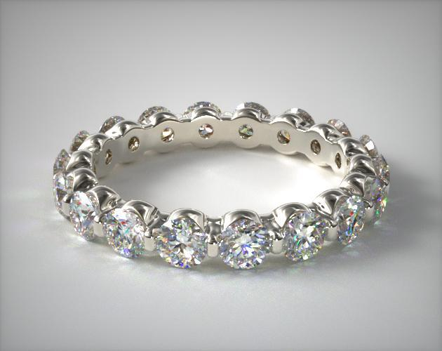 Platinum Ladies 2.00CTW.* Shared Prong Diamond Eternity Ring