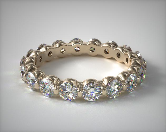 18K Yellow Gold Ladies 2.00CTW.* Shared Prong Diamond Eternity Ring