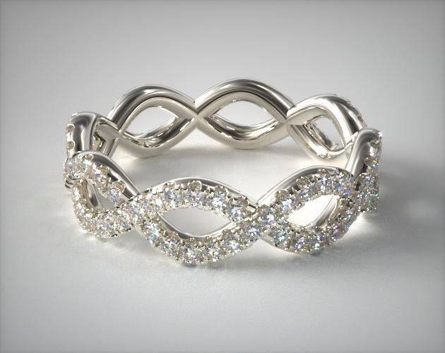 17811ed3cf Pave Infinity Ring   14K White Gold   James Allen
