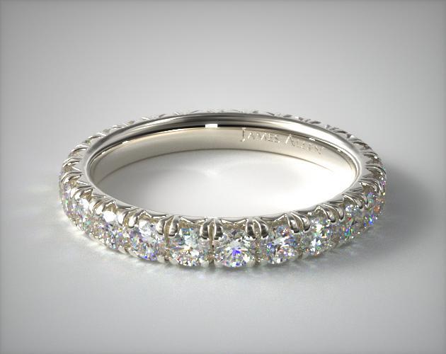 14K White Gold Pave' Set Diamond Eternity Ring (2.00 CTW.)