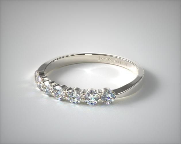 Platinum Common Prong Diamond Wedding Ring (.49 CT TW.)