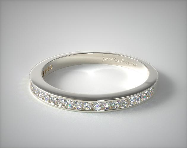 18K White Gold Channel Set Diamond Wedding Band (.25 CTW.)