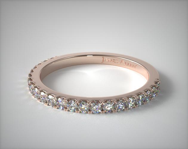 14K Rose Gold Common Prong Diamond Wedding Ring (.37 CTW.)