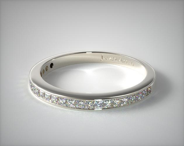 14K White Gold Channel Set Diamond Wedding Ring (.63 CTW.)