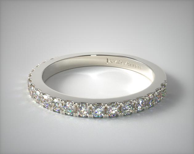 Platinum Common Prong Diamond Wedding Ring (.44 CTW.)