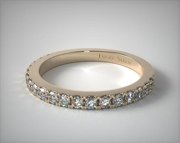18K Yellow Gold Common Prong Diamond Wedding Ring (.44 CTW.)