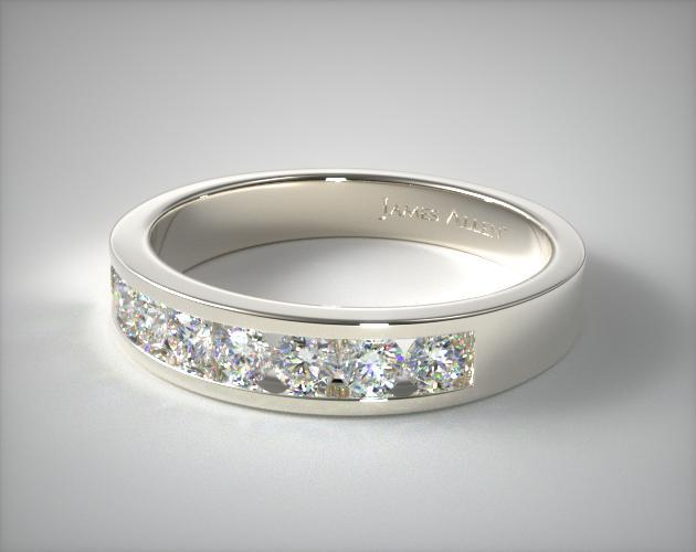14K White Gold 0.45ct Channel Set Diamond Wedding Ring (.45 CTW.)