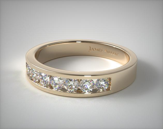 18K Yellow Gold 0.45ct Channel Set Diamond Wedding Ring (.45 CT TW.)