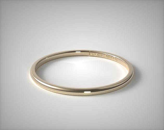 14K Yellow Gold 2mm Comfort Fit Wedding Ring
