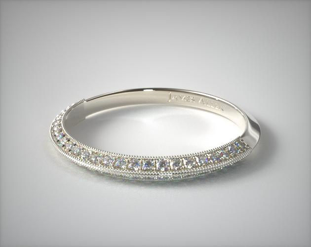 14K White Gold Octagon Halo Matching Diamond Ring
