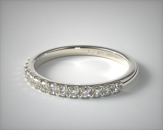 14K White Gold Double Halo Matching Diamond Ring