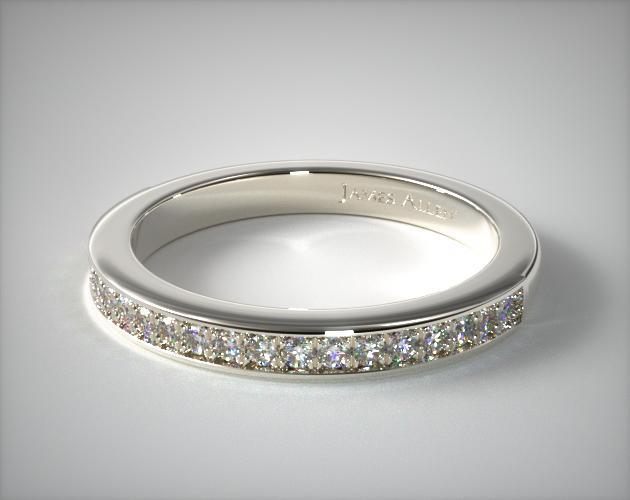 Platinum Matching Pavé Wedding Band