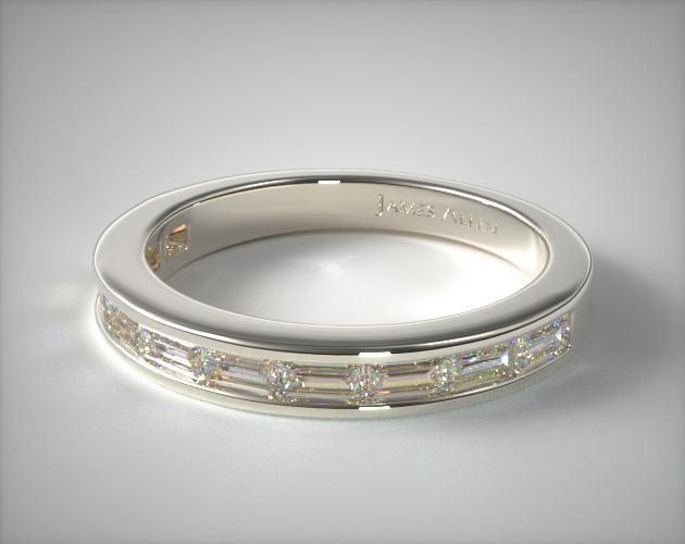 Baguette Wedding Ring 70ct tw Platinum James Allen 14903P