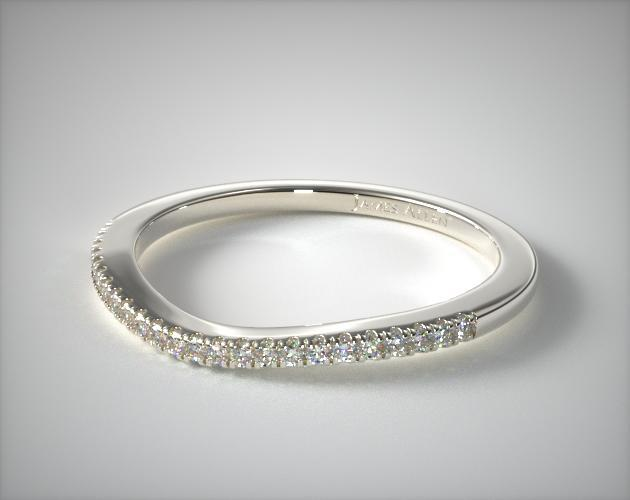 14K White Gold Matching Wedding Ring