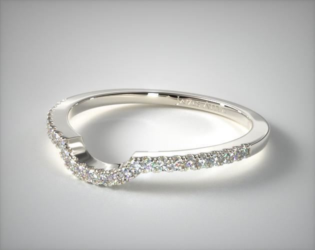 14K White Gold Matching Wedding Ring