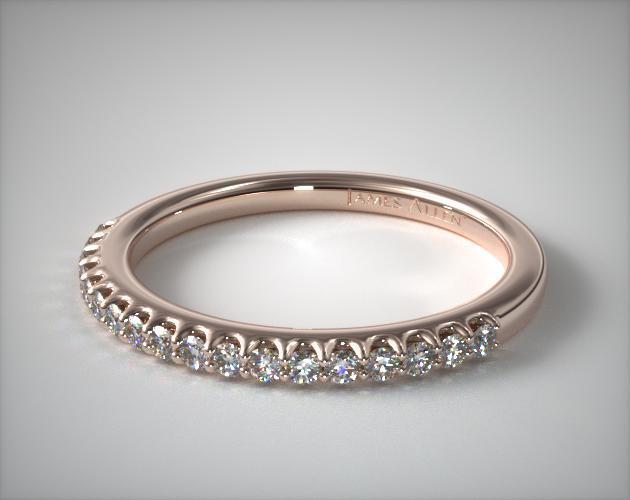 14K Rose Gold Pave Matching Wedding Ring