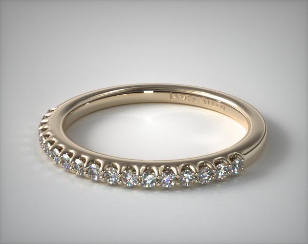 14K Yellow Gold Pave Matching Wedding Ring