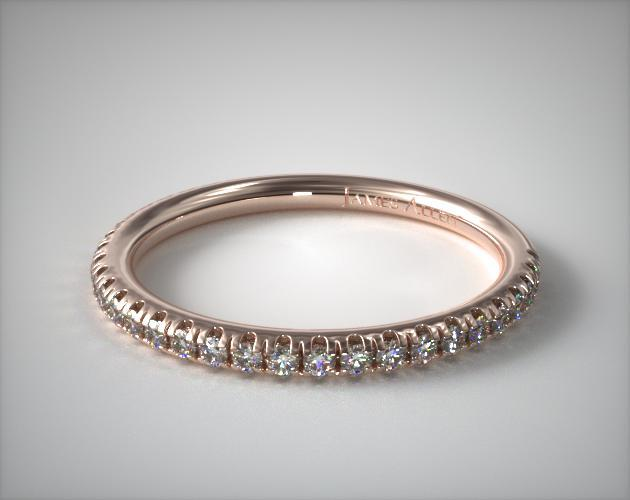 14K Rose Gold Pave Matching Wedding Ring
