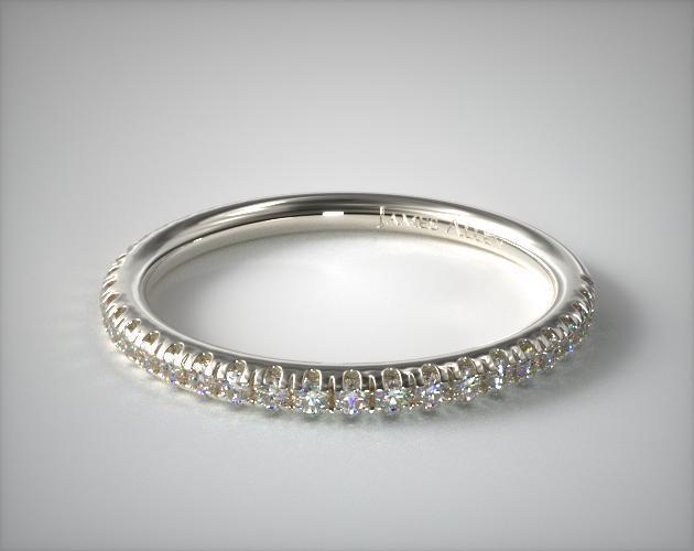 14K White Gold Pavé Matching Wedding Ring