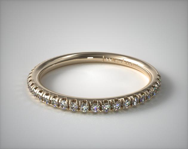 14K Yellow Gold Pave Matching Wedding Ring