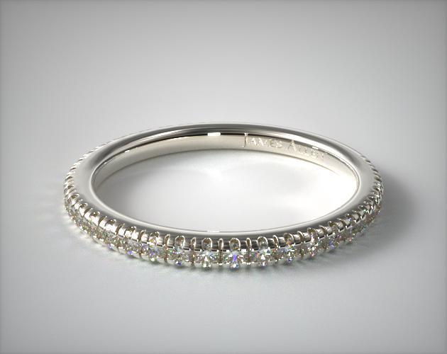 14K White Gold Pave Matching Wedding Ring