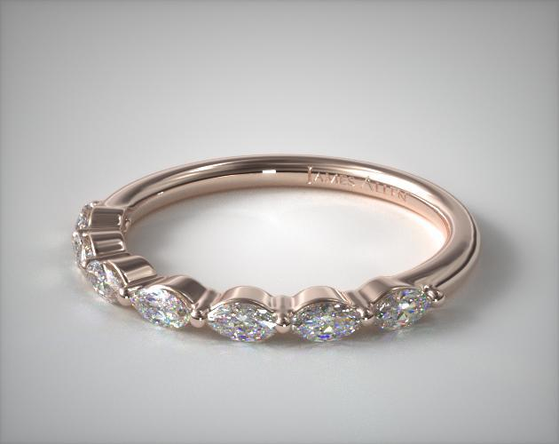 14K Rose Gold Shared Prong Marquise Diamond Ring