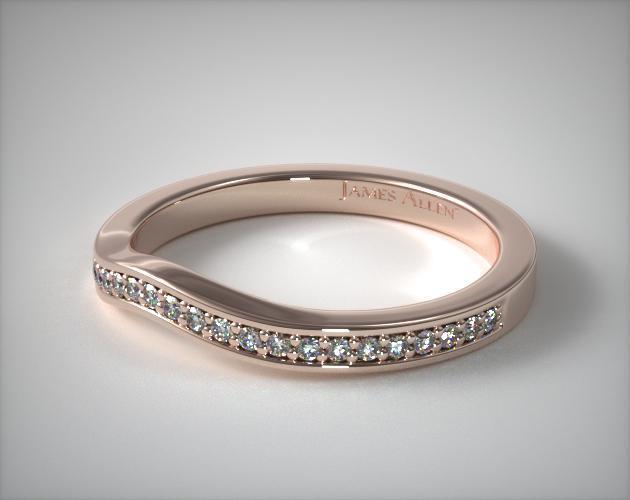 14K Rose Gold Bypass Matching Wedding Ring