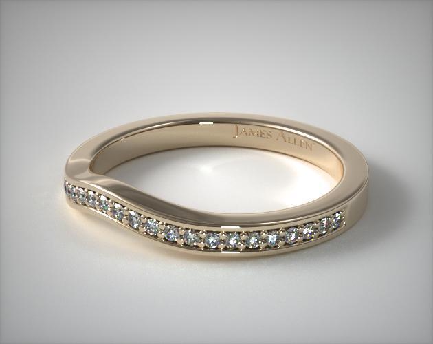 18K Yellow Gold Bypass Matching Wedding Ring