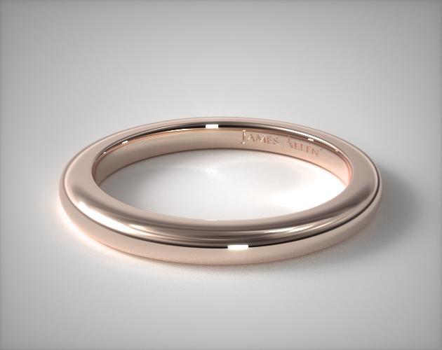 14K Rose Gold Split Shank Matching Wedding Ring