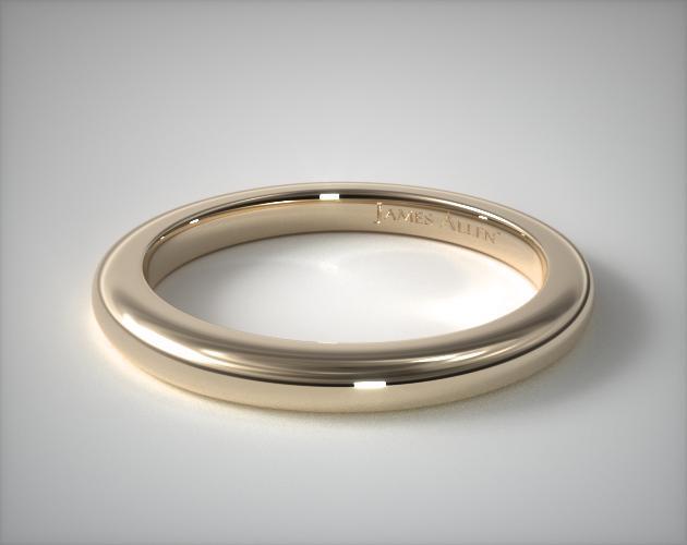14K Yellow Gold Split Shank Matching Wedding Ring