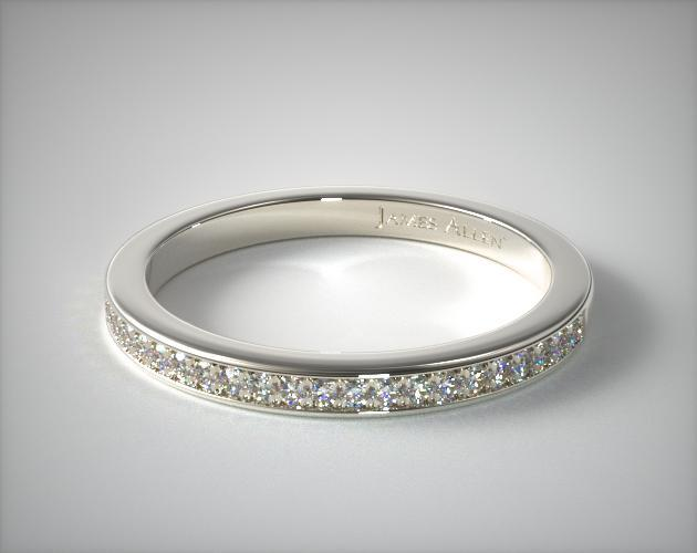 14K White Gold Trellis Matching Wedding Band