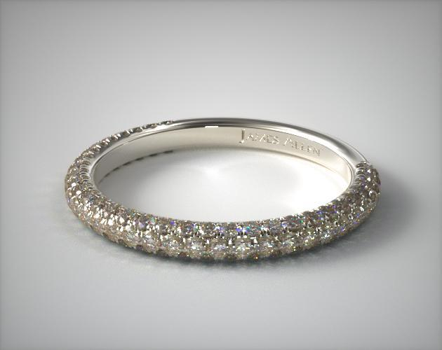 Trio Matching Wedding Band | 14K White Gold | James Allen | 15484W14