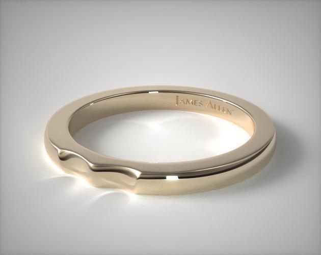 18K Yellow Gold Pavé Infinity Wedding Ring