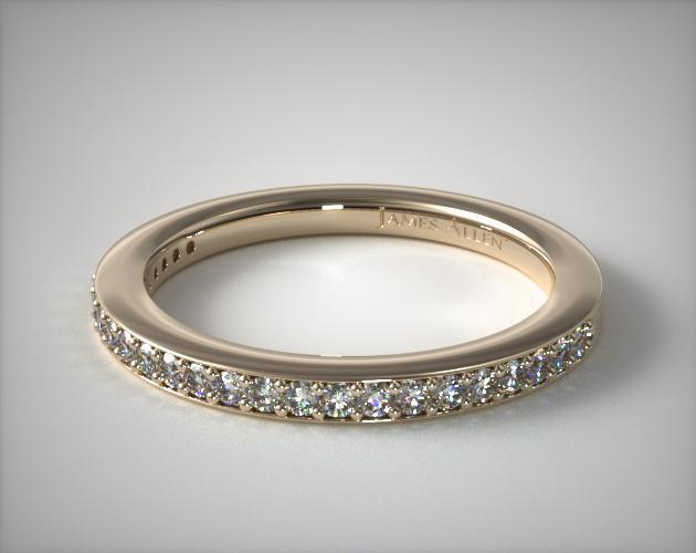 14K Yellow Gold Bezel Set Matching Wedding Ring