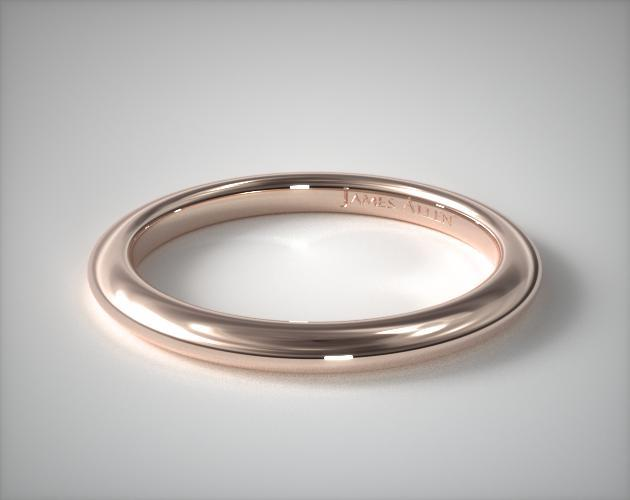 14K Rose Gold Floral Halo Matching Wedding Ring