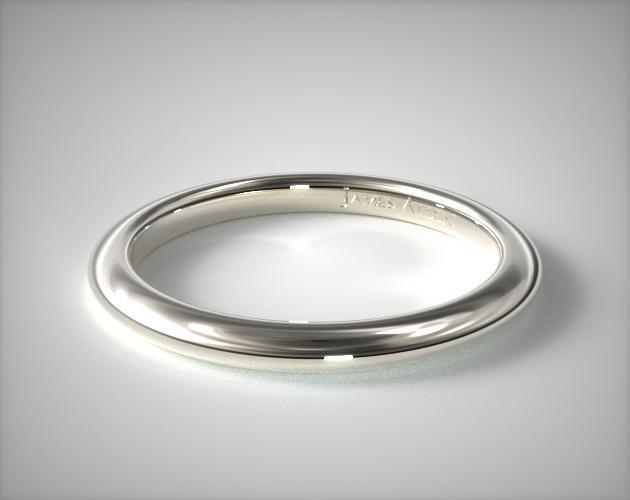 18K White Gold Floral Halo Matching Wedding Ring