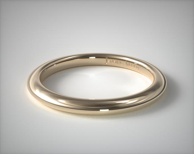 14K Yellow Gold Floral Halo Matching Wedding Ring