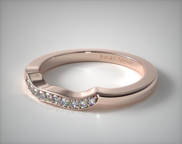 14K Rose Gold Blossoming Vine Matching Wedding Ring