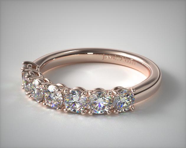 14K Rose Gold Prong Set Matching Wedding Ring (1 CTW.)
